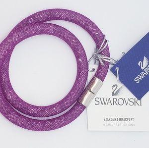 SWAROVSKI Stardust Fuschia Double Wrap Bracelet